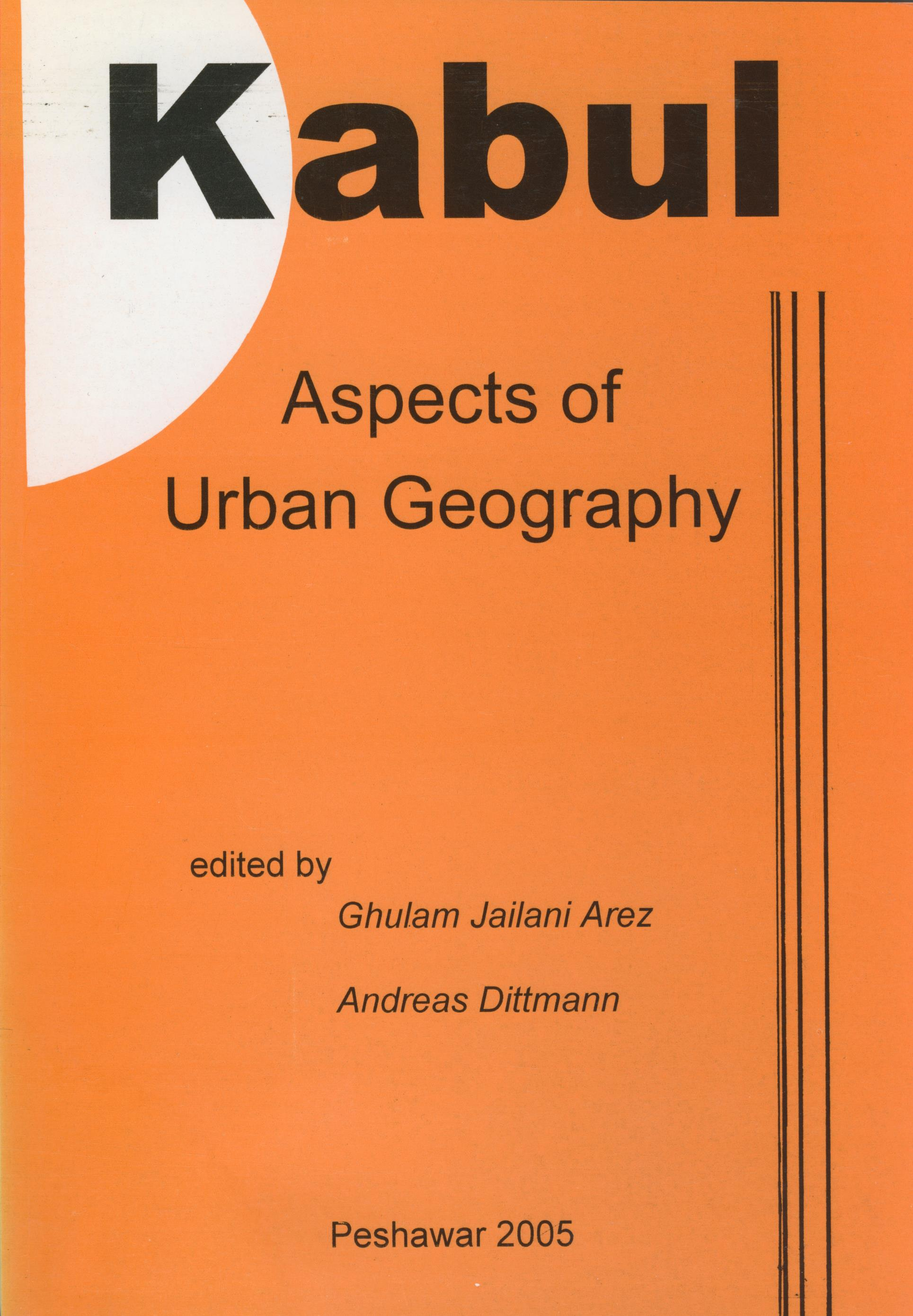 kabul aspects of urban geography cover