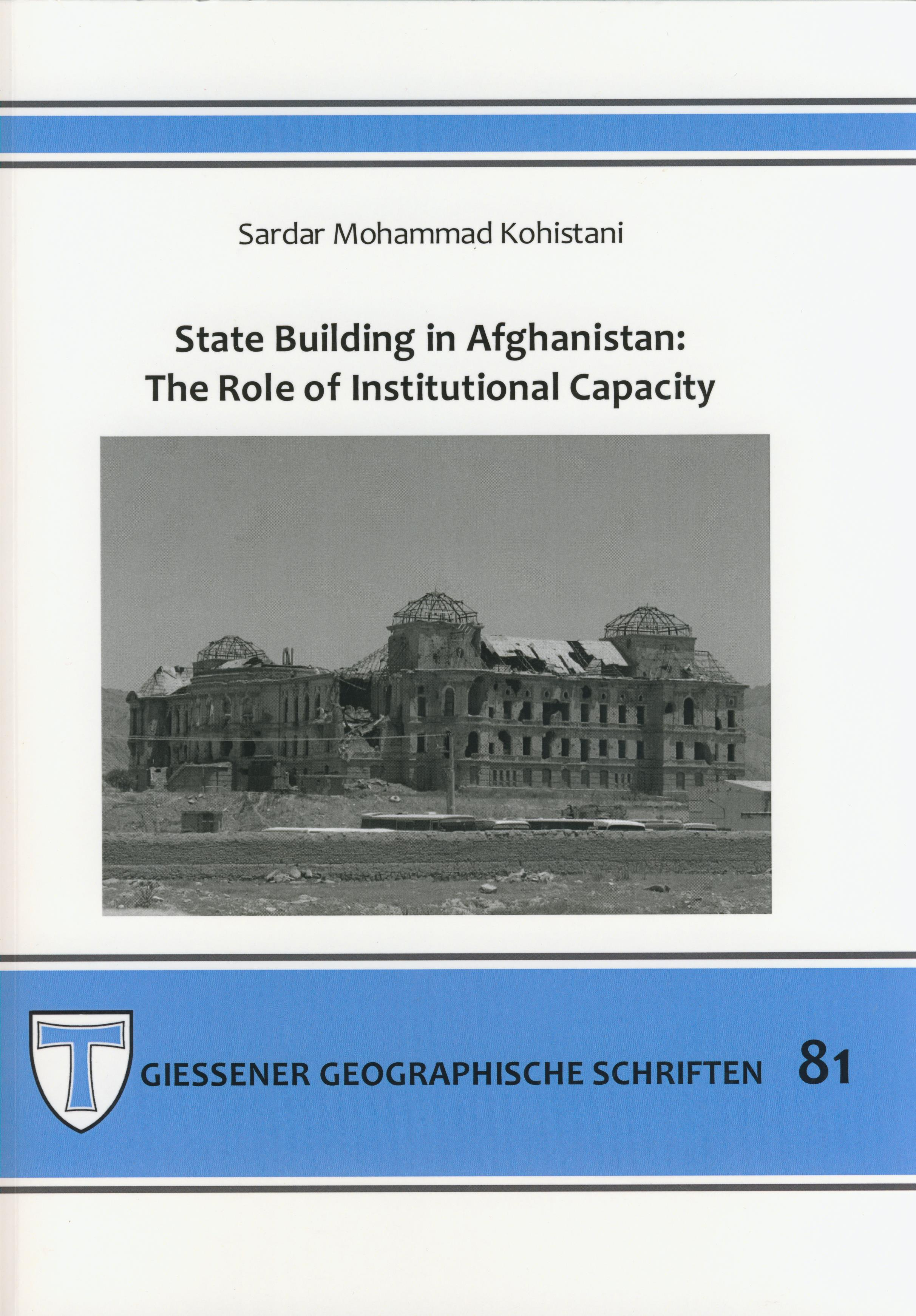 state building in afghanistan cover