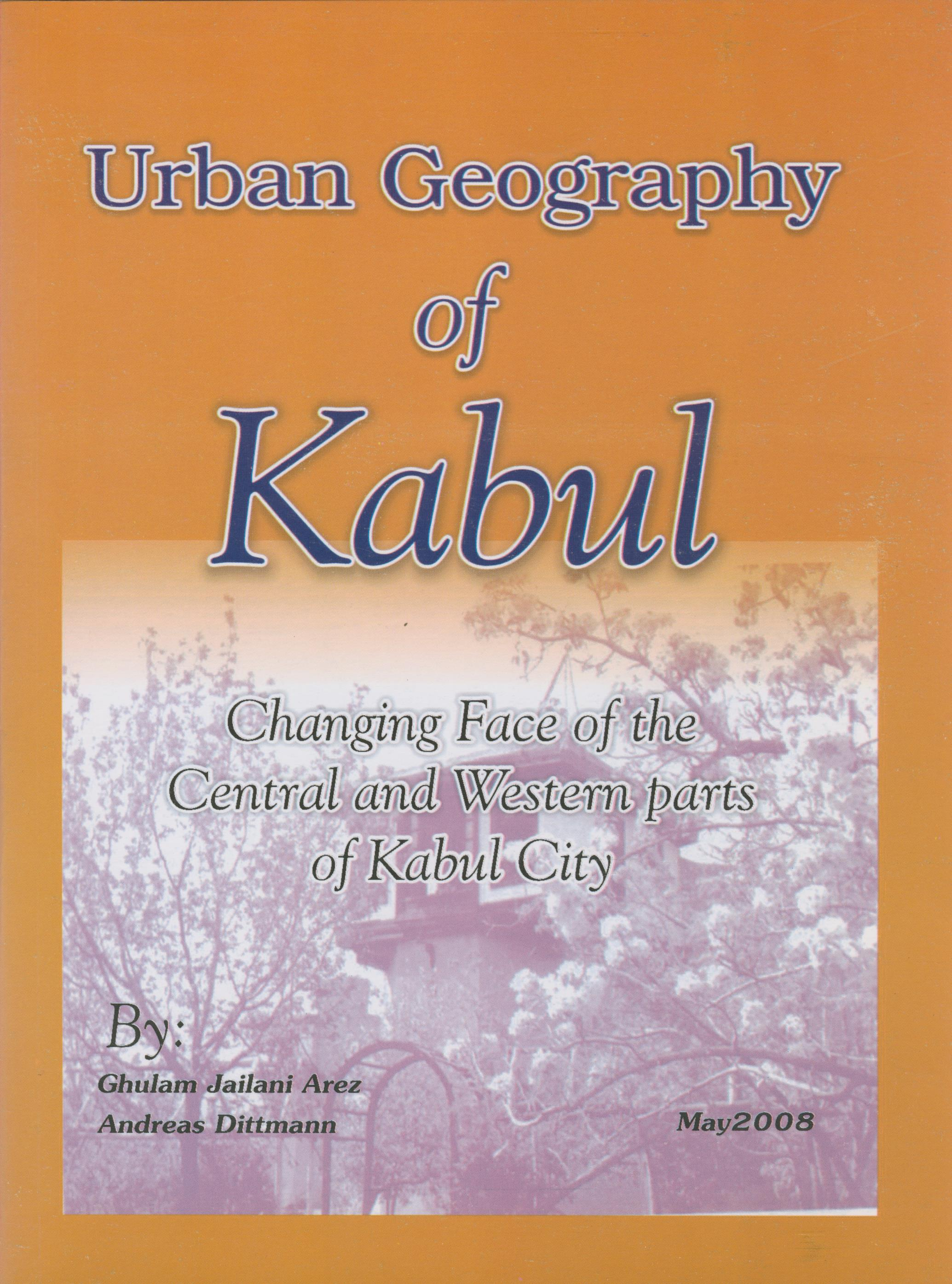 urban geography of kabul cover